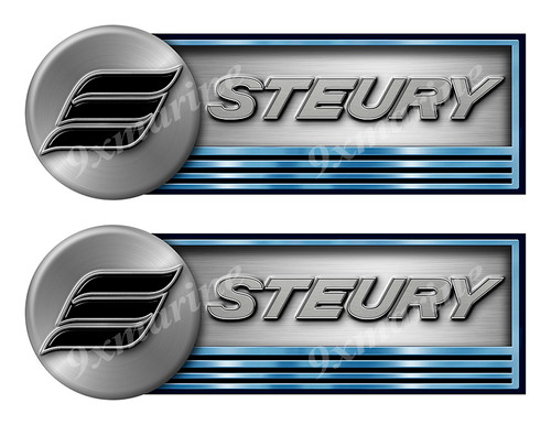 "Two Steury Stickers for Boat Restoration - 10"" long each"