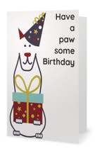 "Animales Birthday Card ""Have a pawsome Birthday"""