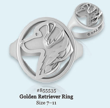 Ring - Golden Retriever - 925 Sterling Silver