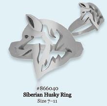 Ring - Siberian Husky - 925 Sterling Silver