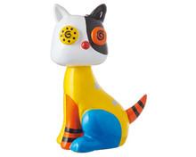 Mila Miniature Figure - Cat - pop art -  4 cm - Polyresin