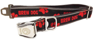 """Cycle Dog Collar """"Brew Dog"""" Size Large 17″-27″ (43cm-69cm).  Normally fits dogs 70lbs & over. (>32kg)"""