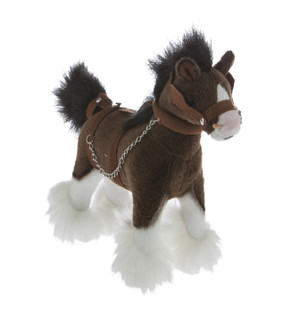 Clydesdale plus horse, soft toy, Pony, gift, bocchetta plush toy