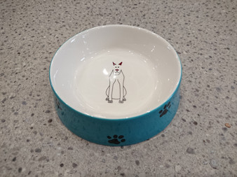 Pet Food Bowl Paolo - diameter 15 cm - hand painted
