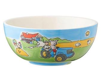 Bowl for kids - Farm - diameter 14 cm - 6 cm high - ceramic