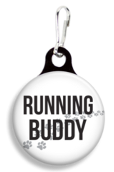 Collar Charm - Running Buddy - for Dogs or Cats - Franny B Good