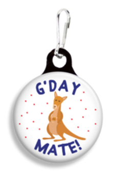 Collar Charm - G'Day Mate - Pet Tag - Franny B Good