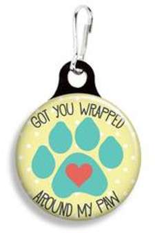Collar Charm - Wrapped around my paw - for Dog or Cats - Franny B Good