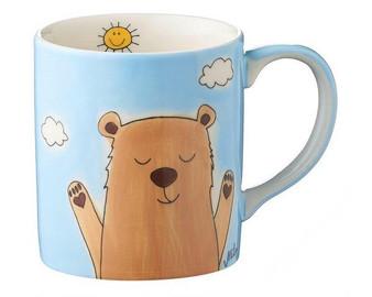 Bear Mug - 280 ml - hand painted - ceramic - Mila