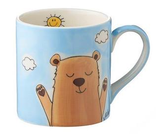 Bear Mug for Children - 180 ml - hand painted - ceramic - Mila