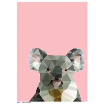 Koala art print  - size A4 - made in Australia