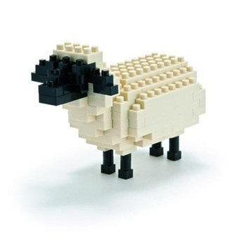 nanoblock Sheep assembled