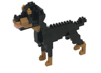 nanoblock Rottweiler figure assembled