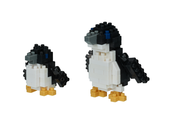 nanoblock Fairy Penguin figures assembled