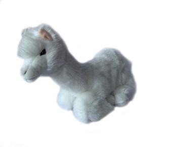 Alpaca plush toy, sitting, white