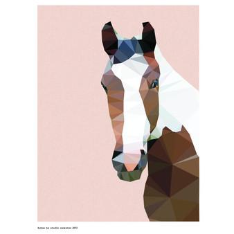 Horse art print - size A4 - made in Australia