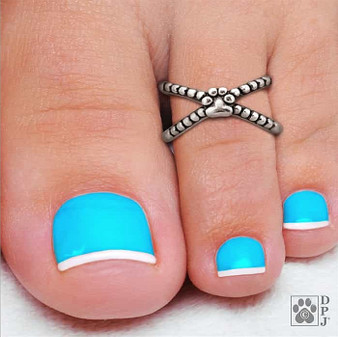 Toe Ring - Trendy Pup -  925 recycled Sterling Silver - Limited Edition