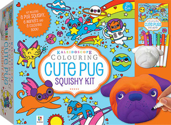 Pug Kaleidoscope Colouring Set Squishy