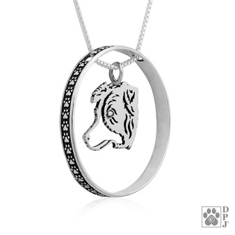 Paw Blinger Pendant - 925 recycled Sterling Silver