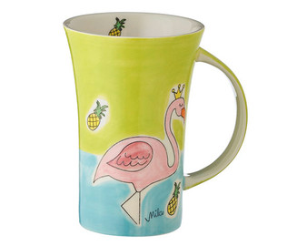 Flamingo Coffee Mug - 500 ml - hand painted ceramic