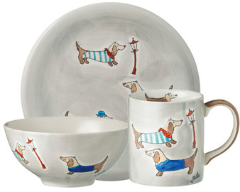 Sausage Dog / Dachhund - Tableware - hand-painted ceramics - ISO certified