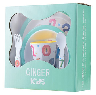 Numbers - Melamine Tableware Set for Kids - BPA and Phthalates free