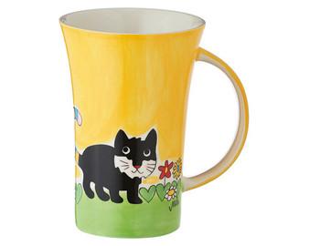 Cat Kasimir Coffee Mug - 500 ml - hand painted ceramic
