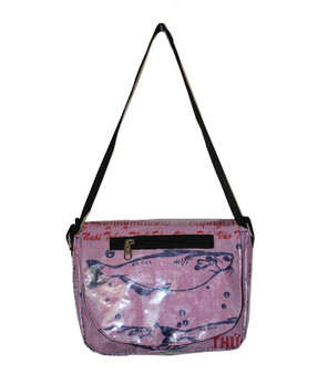 Shoulder Bag  Fish - pink - made of recycled fish food bags - Fairtrade