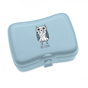 """Koziol Elli Owl design food/non food storage boxes """"Stay cool"""" - blue - BPA free - Made in Germany"""