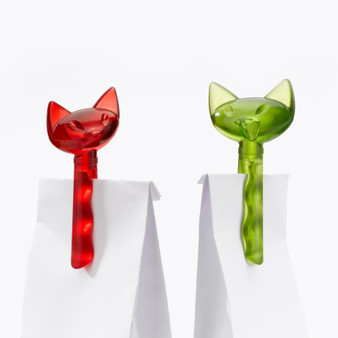 Koziol MIAOU cat shaped Bag clips - set of 2 - multiple colours - BPA free - Made in Germany