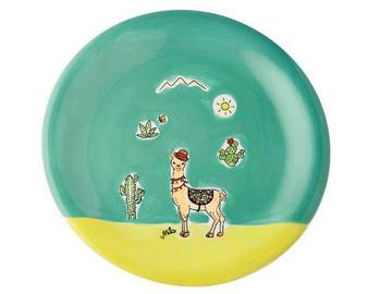 Plate - Llama Spucki - diameter 22 cm - ceramic