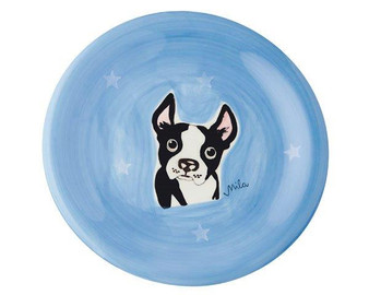 Plate - Boston Terrier Dog - diameter 22 cm - ceramic