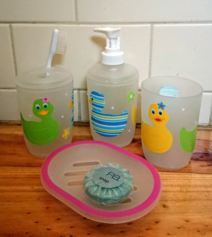 Fancy Duck Bath set - 4 pieces