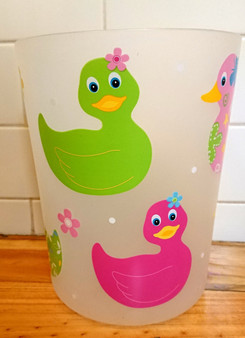 Fancy Duck Bathroom waste basket