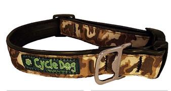Cycle Dog - Brown Cameo - Dog Collar - Medium (30-53 cm) 13.5 - 34 kg