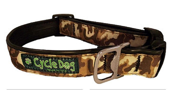 Cycle Dog - Brown Cameo - Dog Collar - Large - (43-69 cm) >32 kg
