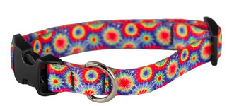 Cycle Dog - EcoWeave - Small Dog Collar - Tie Dye - (15cm-30cm)- for dogs up to 13.5kg