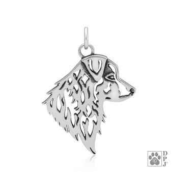 Australian shepherd head pendant
