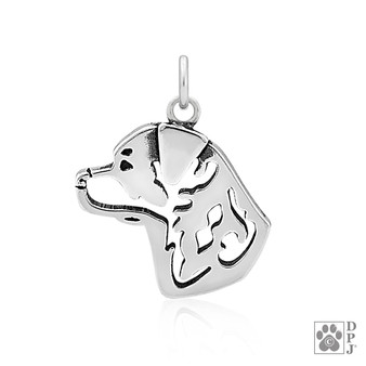 Rottweiler head pendant
