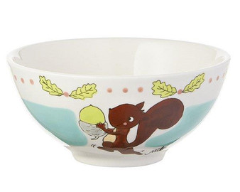 Bowl - Squirrel Nick Nut - diameter 16 cm - 7 cm high - ceramic