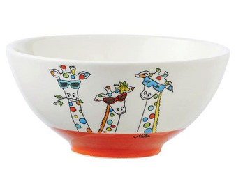 Bowl -Giraffe - diameter 16 cm - 7 cm high - ceramic