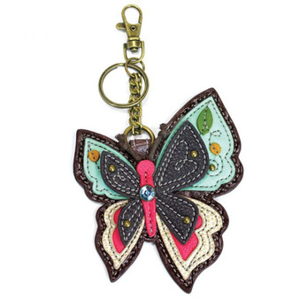 Butterfly - Keyring/Bag Charm  with zipper coin purse