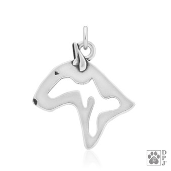 Bull Terrier, Head pendant - 925 recycled Sterling Silver