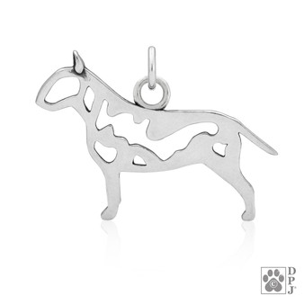 Bull Terrier, Body pendant - 925 recycled Sterling Silver