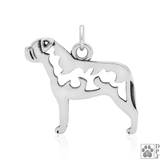 Bullmastiff body pendant, bullmastiff necklace, bullmastiff gift