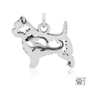 Cairn Terrier body pendant with Rat in body, Cairn Terrier  Necklace, Cairn Terrier pendant