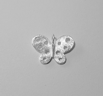 Butterfly pendant - 925 Sterling Silver - matted
