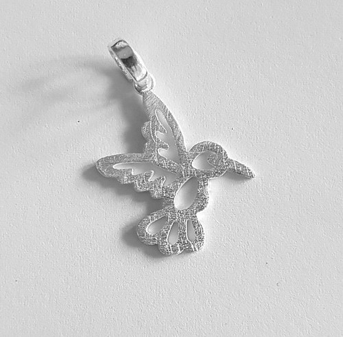 Hummingbird Pendant -  .925 Sterling Silver