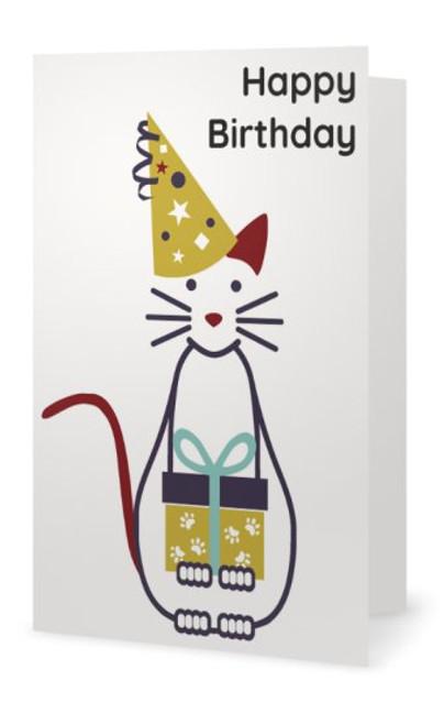 "Animales Birthday Card ""Happy Birthday"""
