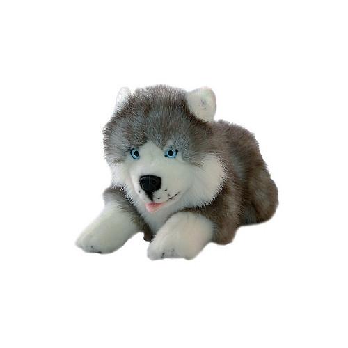 Husky Dog Plush Toy - Marbles - 28 cm